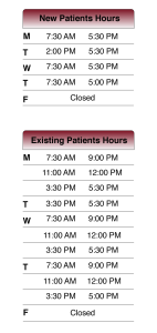 Office Hours Chamberlain Chiropractic Best chiropractor wellness Center West Chester PA