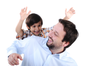 Happy Dad Son Chamberlain Chiropractic Best chiropractor wellness Center West Chester PA