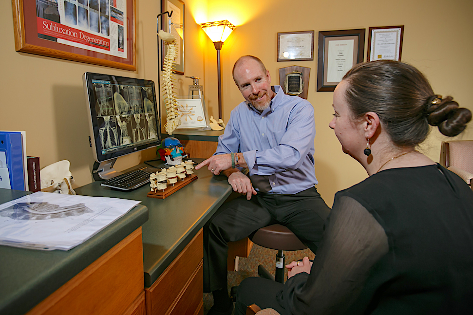 patient consultation Chamberlain Chiropractic Best chiropractor West Chester PA